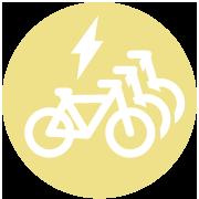Station de vélos électriques